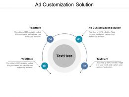 Ad Customization Solution Ppt Powerpoint Presentation Portfolio Cpb