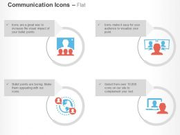 Ad Monitoring Global Communication Video Calling Ppt Icons Graphics