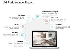 Ad Performance Report Ppt Powerpoint Presentation File Background Cpb