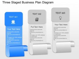 Ad Three Staged Business Plan Diagram Powerpoint Template Slide