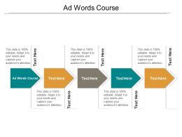 Ad Words Course Ppt Powerpoint Presentation Pictures Display Cpb