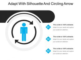 Adapt With Silhouette And Circling Arrow