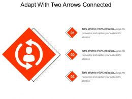 Adapt With Two Arrows Connected