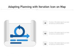 Adapting Planning With Iteration Icon On Map