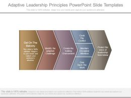Adaptive Leadership Principles Powerpoint Slide Templates
