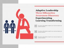 Adaptive Leadership Three Silhouettes Awareness Discovery Experimenting Learning Transforming