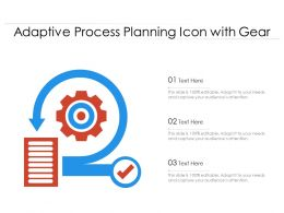 Adaptive Process Planning Icon With Gear