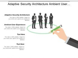Adaptive Security Architecture Ambient User Experience Smart Machines