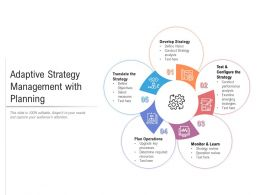 Adaptive Strategy Management With Planning