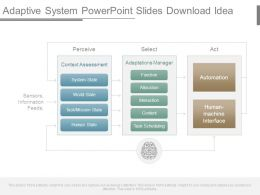 Adaptive System Powerpoint Slides Download Idea