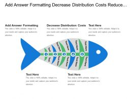 Add Answer Formatting Decrease Distribution Costs Reduce Working Capital