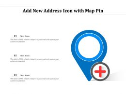 Add New Address Icon With Map Pin