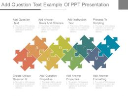 Add Question Text Example Of Ppt Presentation