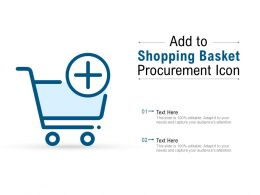 Add To Shopping Basket Procurement Icon