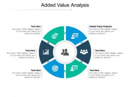 Added Value Analysis Ppt Powerpoint Presentation Portfolio Graphics Cpb