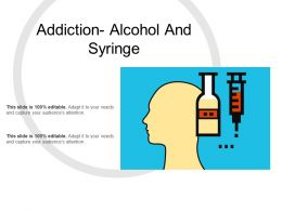 Addiction Alcohol And Syringe