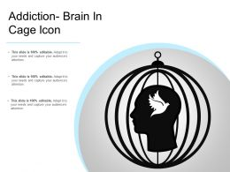 Addiction Brain In Cage Icon