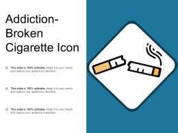 Addiction Broken Cigarette Icon