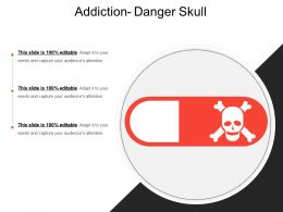 Addiction Danger Skull
