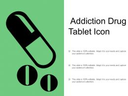 Addiction Drug Tablet Icon