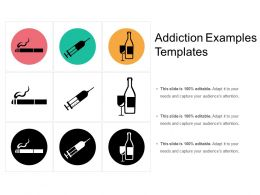 Addiction Examples Templates