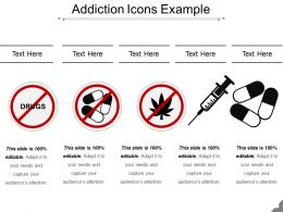 Addiction Icons Example