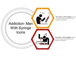 Addiction Man With Syringe Icons