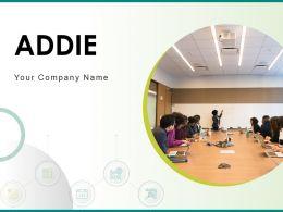 Addie Analyse Management Develop Evaluate Design Implement
