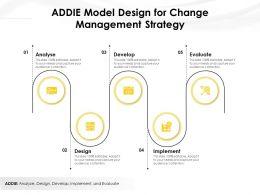 ADDIE Model Design For Change Management Strategy