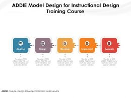 ADDIE Model Design For Instructional Design Training Course
