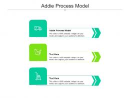 Addie Process Model Ppt Powerpoint Presentation Layouts Templates Cpb