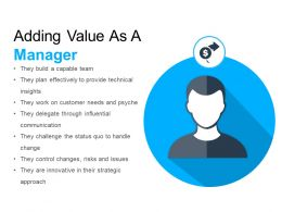 Adding Value As A Manager Example Of Ppt Presentation