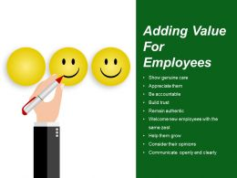 Adding Value For Employees Sample Ppt Presentation