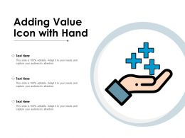 Adding Value Icon With Hand