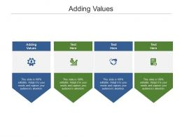 Adding Values Ppt Powerpoint Presentation Ideas Visuals Cpb
