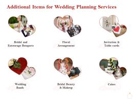 Additional Items For Wedding Planning Services Ppt Powerpoint Presentation Icon
