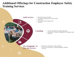 Additional Offerings For Construction Employee Safety Training Services Ppt Icon