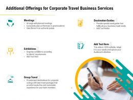 Additional Offerings For Corporate Travel Business Services Ppt File Display