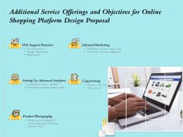 Additional Service Offerings And Objectives For Online Shopping Platform Design Proposal Ppt Slides