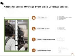 Additional Service Offerings Event Video Coverage Services Ppt Powerpoint Presentation File