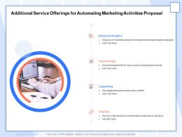 Additional Service Offerings For Automating Marketing Activities Proposal Ppt Model
