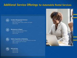 Additional Service Offerings For Automobile Rental Services Administration Ppt Presentation Sample
