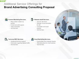 Additional Service Offerings For Brand Advertising Consulting Proposal Ppt Icons