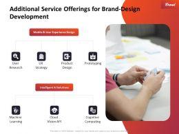Additional Service Offerings For Brand Design Development Ppt Slides Outline