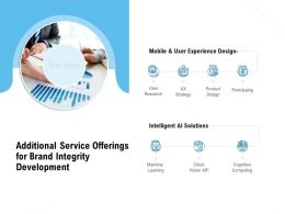 Additional Service Offerings For Brand Integrity Development Ppt Presentation Layouts