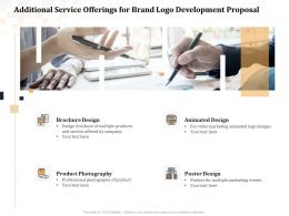 Additional Service Offerings For Brand Logo Development Proposal Ppt Powerpoint Gridlines