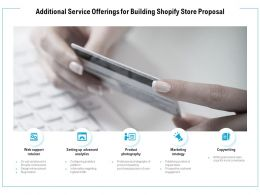 Additional Service Offerings For Building Shopify Store Proposal Ppt Powerpoint Presentation