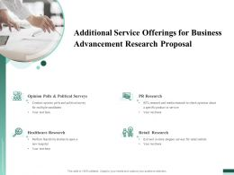 Additional Service Offerings For Business Advancement Research Proposal Ppt Icon