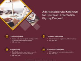 Additional Service Offerings For Business Presentation Styling Proposal Ppt Clipart