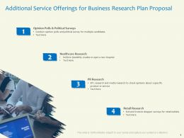 Additional Service Offerings For Business Research Plan Proposal Political Survey Ppt Visual Aids Styles